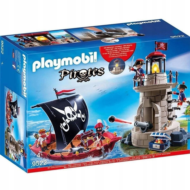 Playmobil 9522 Piraci Okręt piracki Latarnia LED