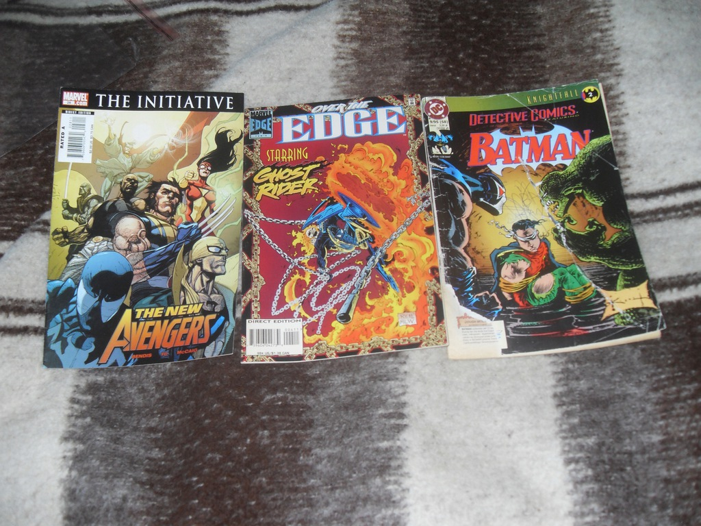 New Avengers, Ghost Rider,Batman 3 komiksy