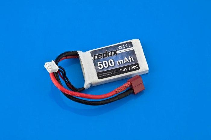 Pakiet Redox 500 mAh 7,4V 20C LiPo