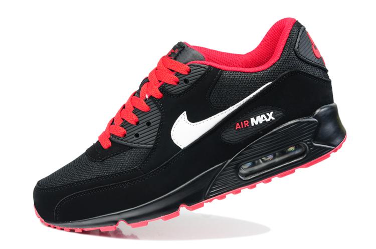 Buty NIKE AIR MAX 90 blackredwhite, r. 42 7610797248