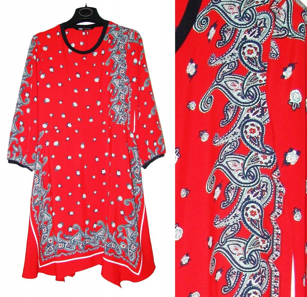 asymetryczna czerwona sukienka zara