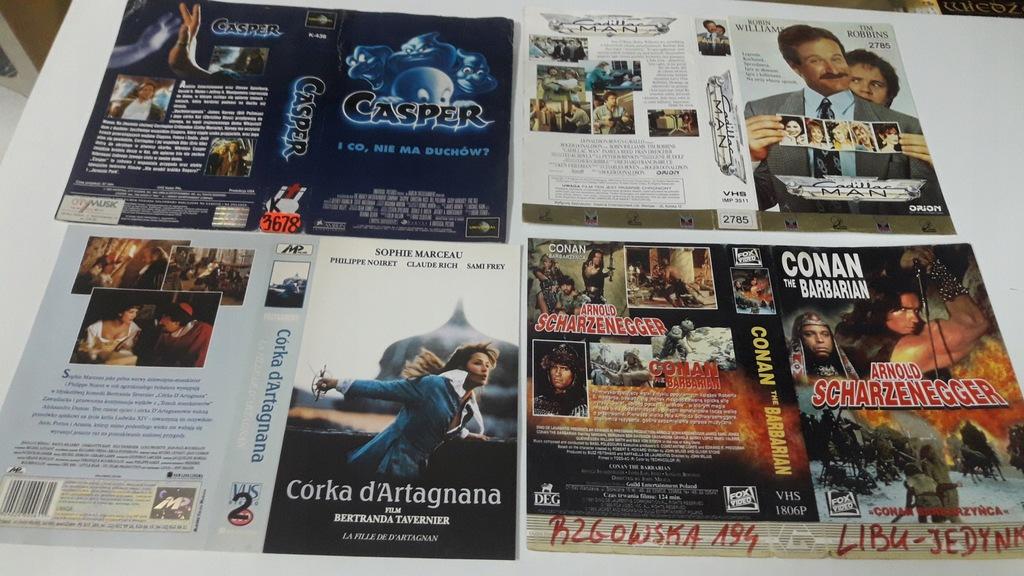 A-0929 pakiet 8 okładek kaset vhs