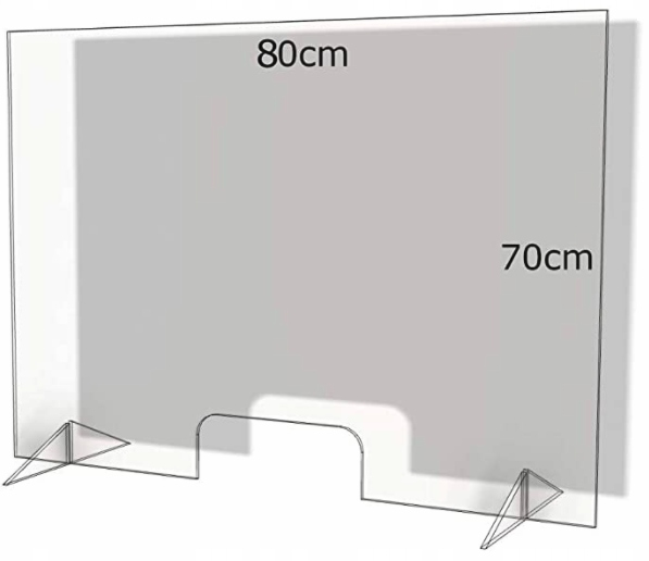 Osłona ochronna z pleksi na ladę FLEXISTYLE, 80x70