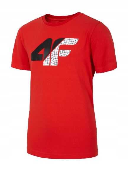 Koszulka 4F junior HJL20 JTSM022 czerwona r. 122