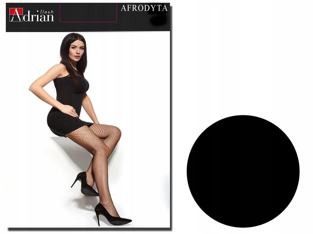 Rajstopy kabaretki Adrian Afrodyta Nero 4