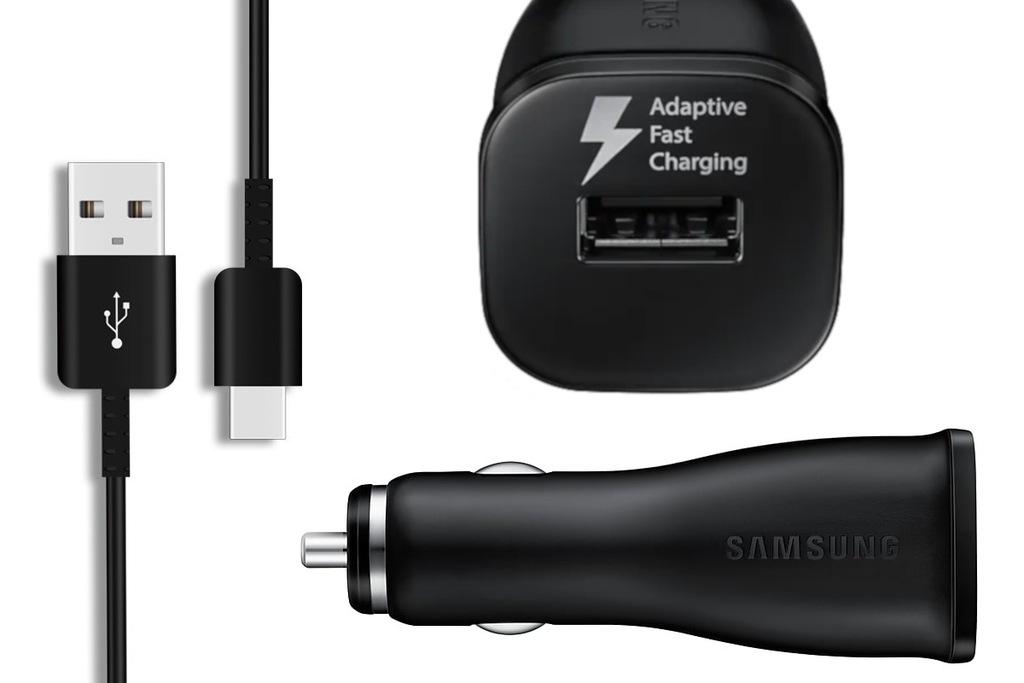 ŁADOWARKA DO SAMOCHODU USB SZYBKA+KABEL USB C
