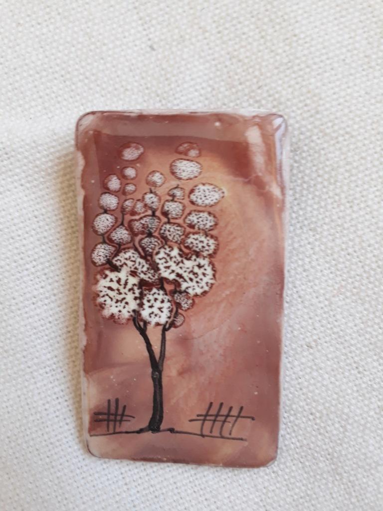 Broszka ceramika