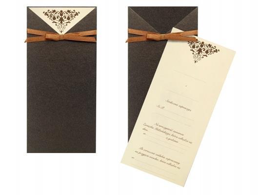 Zaproszenie Ślubne z Ornamentem Zaproszenia 10szt