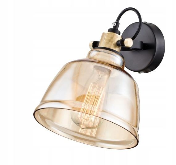 Vintage lampa ścienna transparentna Maytoni Irving