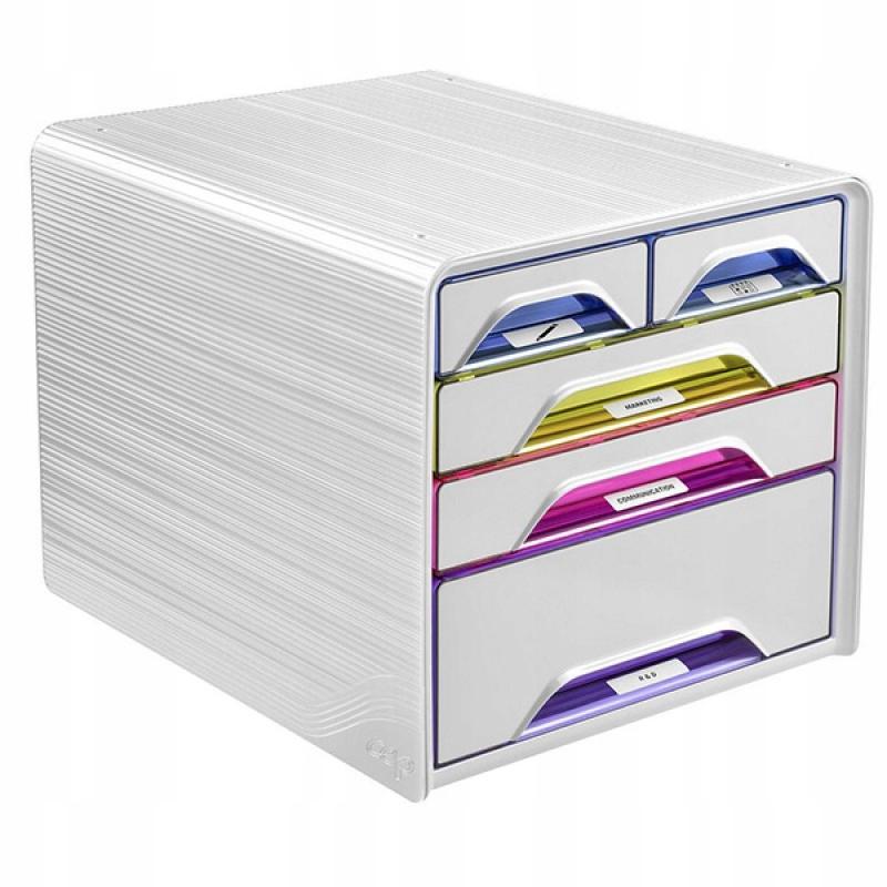 Zestaw 5 szufladek CEP Smoove biały/mix kolorów