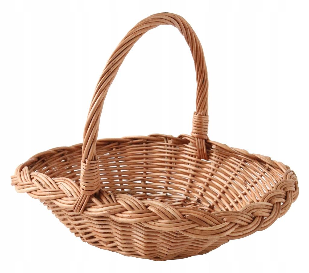 Wiklinowy Koszyczek Wielkanocny -Handmade
