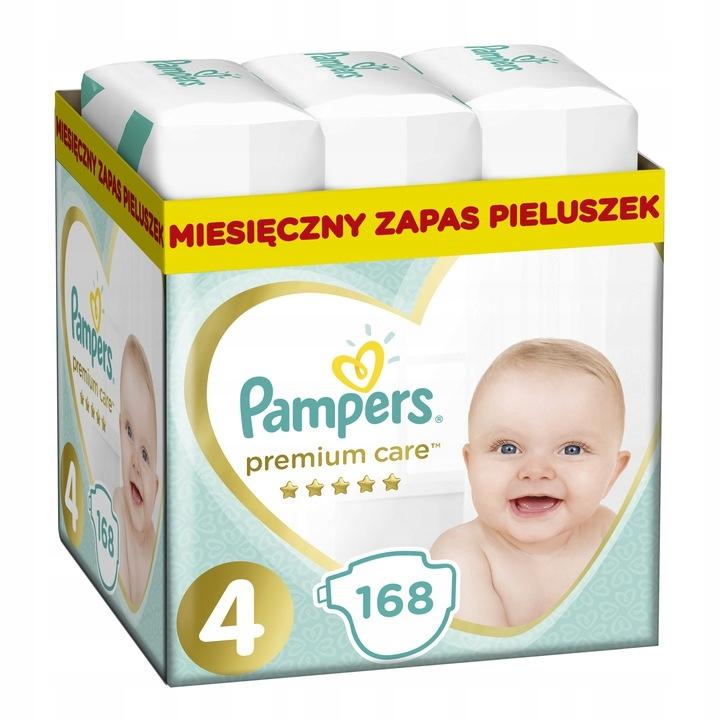 PAMPERS SUPER Pieluchy Premium Care 4 Maxi 168 szt