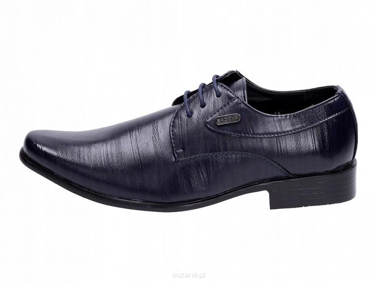 Granatowe pantofle, buty męskie BADOXX 301 r41
