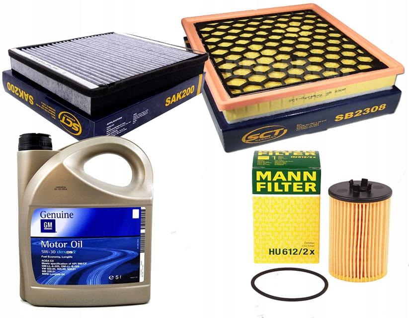 Zestaw filtrów Insignia 1,4 1,6 + olej 5w30 5l