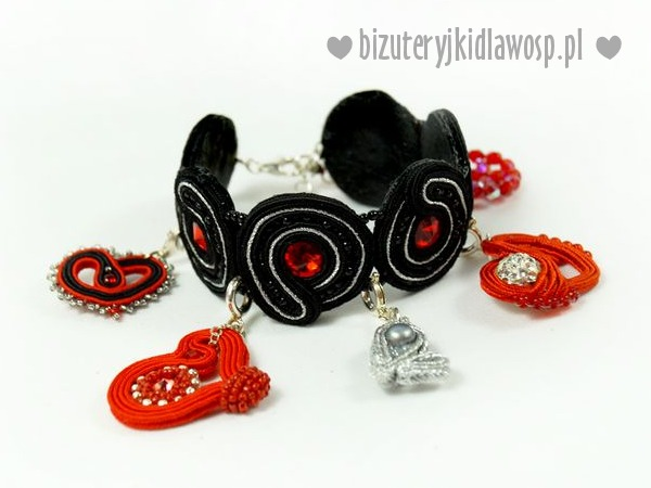 Bransoletka BEATING HEART sutasz Swarovski charms