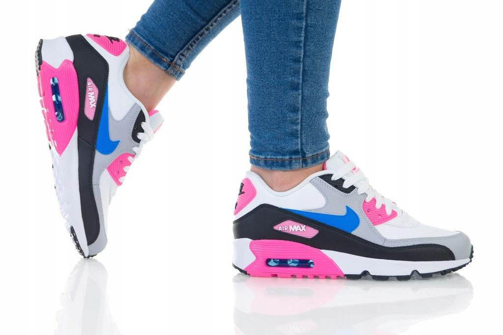 Nike Air Max 90 LTR GS 833376 107 | Biały, Czarny, Różowy