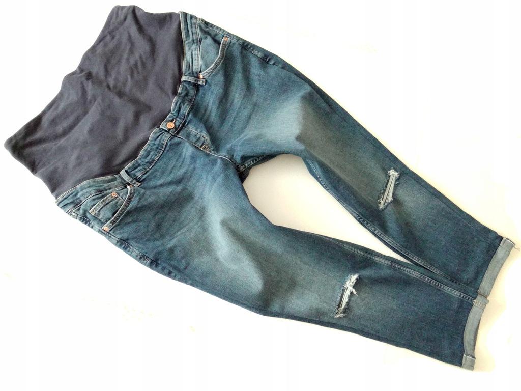*H&M*świetne spodnie ciążowe boyfriend*XL