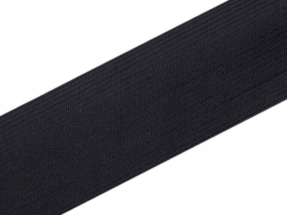 25m black guma gładka tkana szerokość 50mm gumy