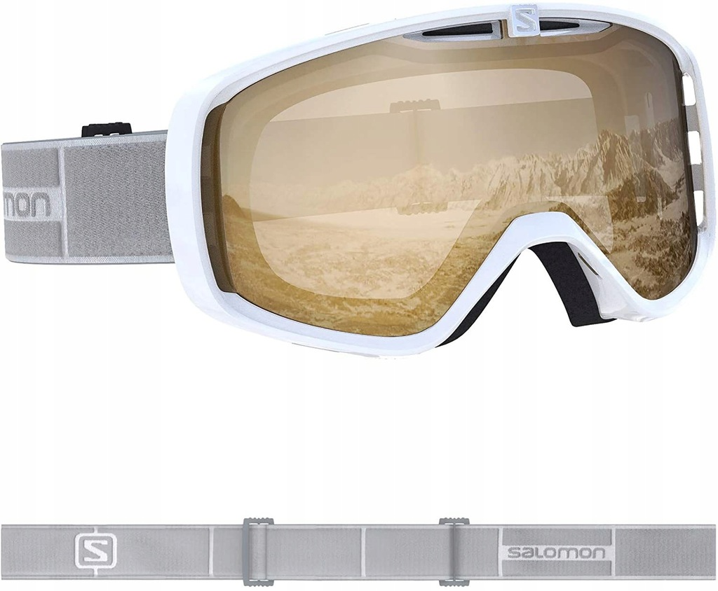 Gogle narciarskie Salomon białe Unisex (C)
