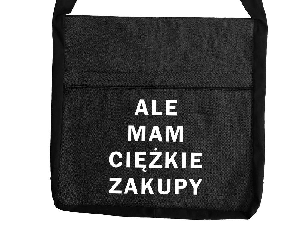 Torba na zakupy bawełniana EKO ALE MAM CIĘŻKIE ZAKUPY D37
