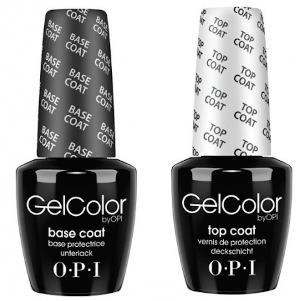OPI - GELCOLOR - BASE COAT 15 TOP COAT 15ml ZESTAW