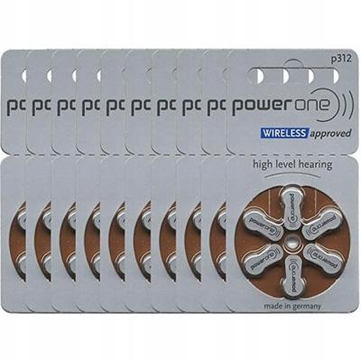 POWER ONE P312 BATERIE DO APARATU SŁUCHOWEGO 60SZ