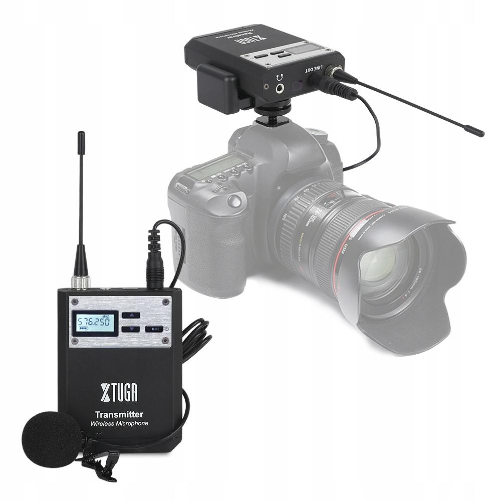 Mikrofon UHF Lavalier Camera Metal Camera, telefon