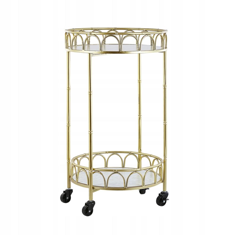 Wózek kuchenny złoty z efektem marmuru SHAFTER