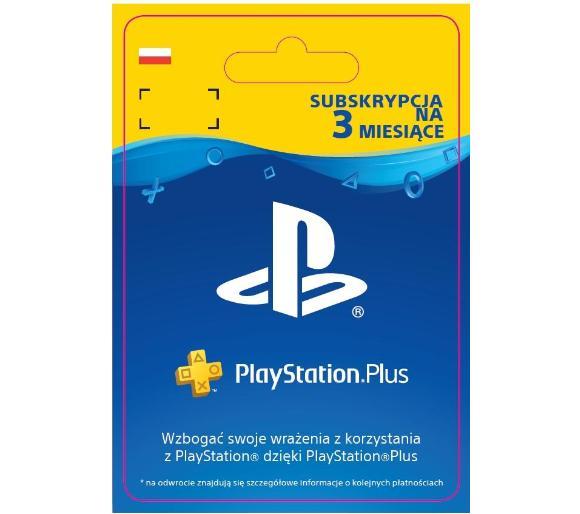 Karta PlayStation Plus 90 Dni 3 Miesiące PS5 PS4