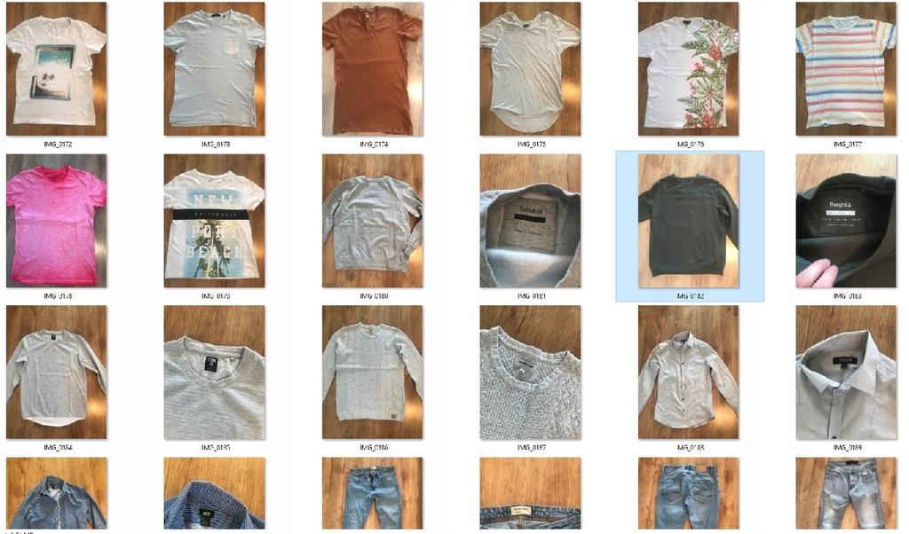 Mega zestaw odzieży męskiej S/M Bershka, H&M