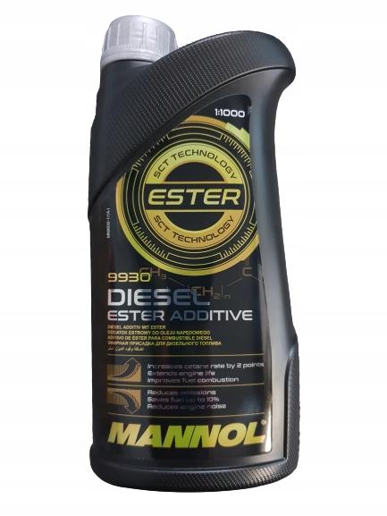 Mannol Ester Diesel 1L Zmniejsza Spalanie do 10% !