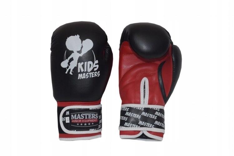 Rękawice bokserskie MJE - RPU-KM-GS czarno-czewone