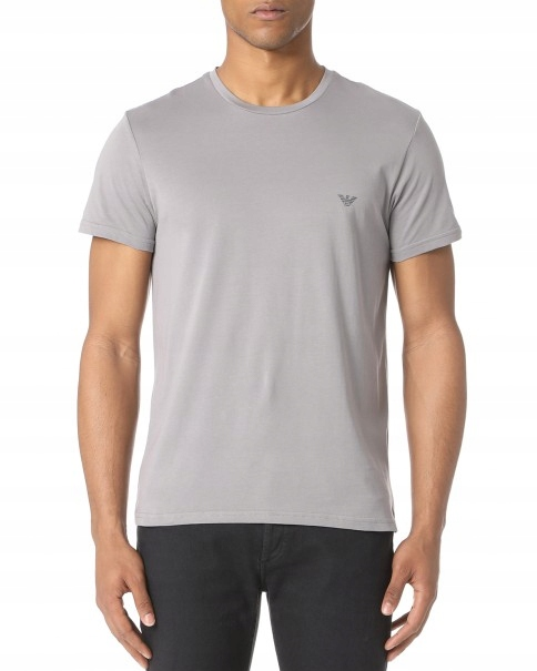 EMPORIO ARMANI Szary Oryginalny T-Shirt _ L