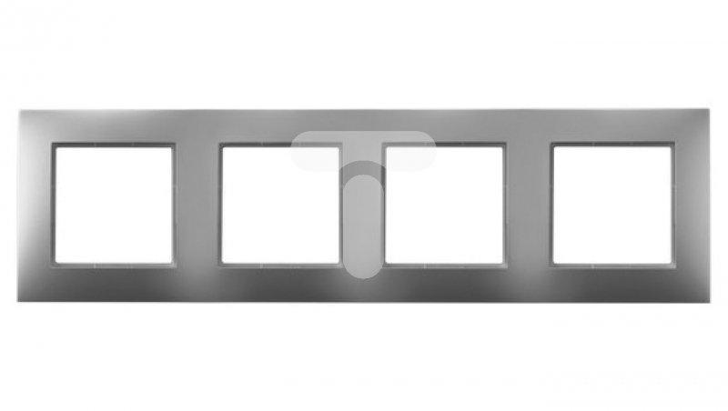 ARIA Ramka poczwórna srebro R-4U/18