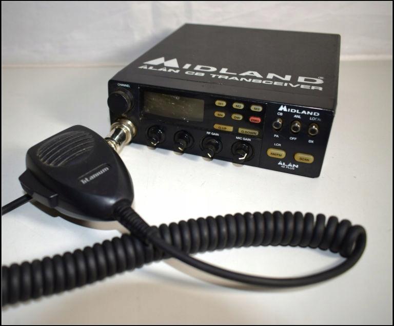 CB RADIO MIDLAND ALAN 48 PLUS + MIKROFON TITANIUM
