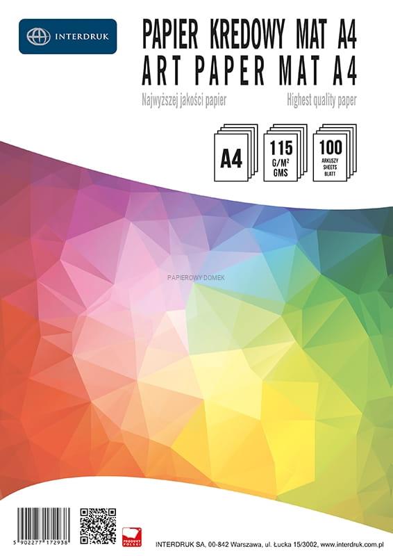 Papier kredowy A4 100 arkuszy, 115 g - Mat
