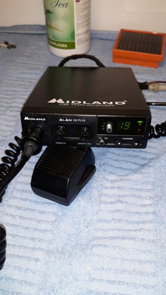 CB RADIO ALAN MIDLAND 100 PLUS Radio mikrofon wtyk
