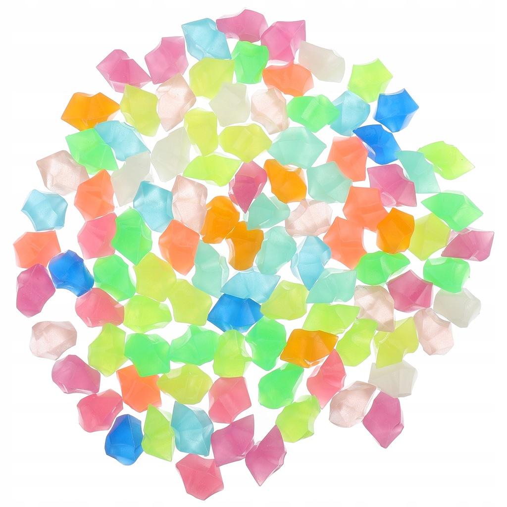 100 sztuk Luminous Stone Fish Tank Garden Rocks De