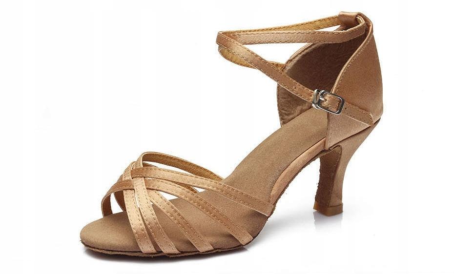 Buty taneczne latino salsa 34 obcas 7 stopa 22 cm