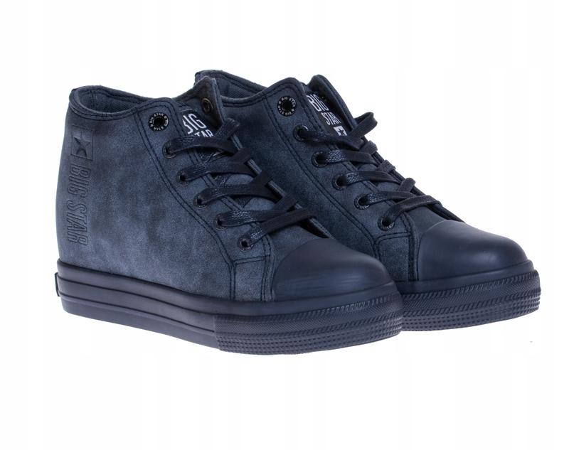 Sneakersy Damskie Big Star Granatowe EE274125 (38)