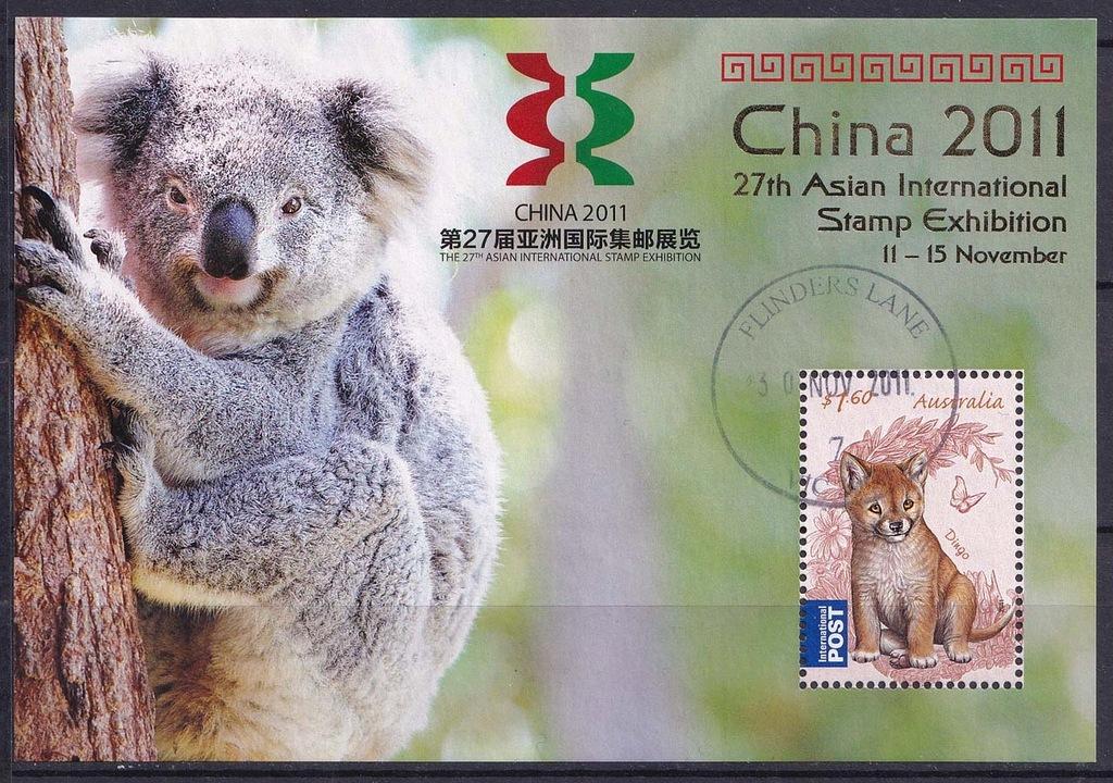 AUSTRALIA Mi bl.132 Zwierzęta, MWF CHINA 2011
