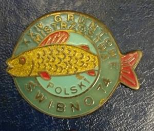 Odznaka wędkarska PZW 24 MP Gruntowe Świbno 74