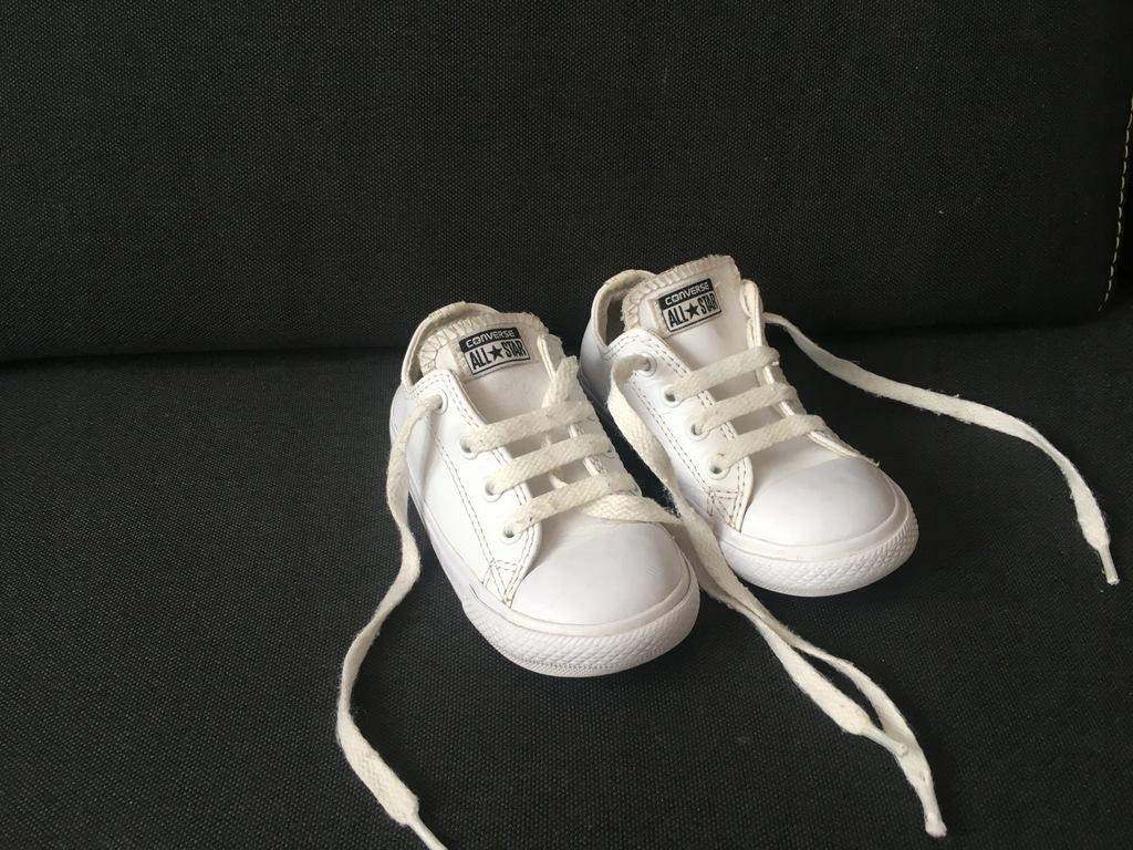 Converse trampki skórzane białe roz 24