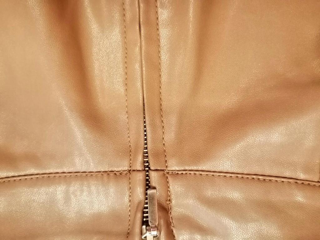 spódnica Stradivarius xs camel eko skóra 7960356839