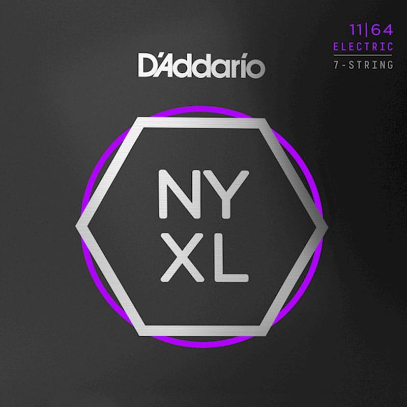 Struny D'ADDARIO NYXL Nickel Wound (11-64) 7str.