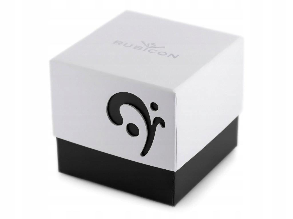 Prezentowe pudełko na zegarek - RUBICON - czarne