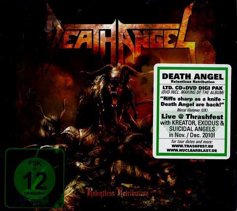 Death Angel RELENTLESS RETRIBUTION    CD + DVD