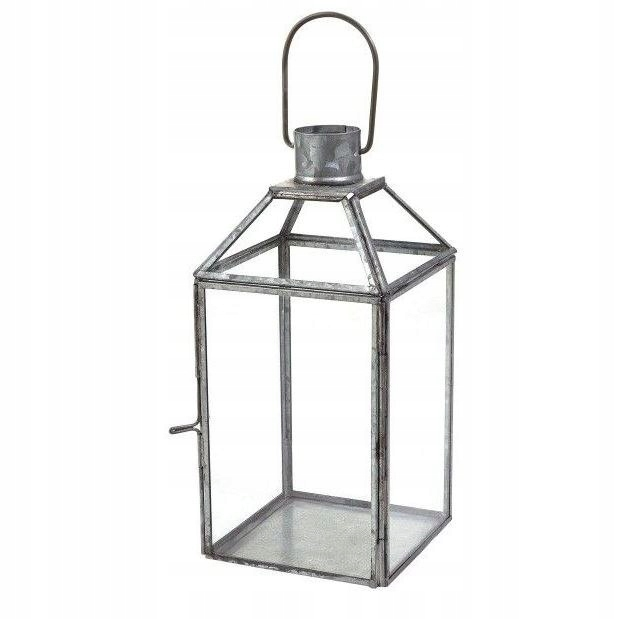 Latarnia ogrodowa latarenka 22x11x11 lampion stal