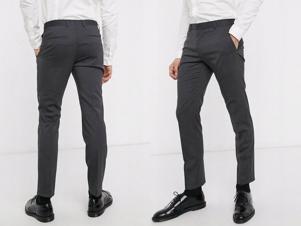 Calvin Klein Szare spodnie eleganckie 54