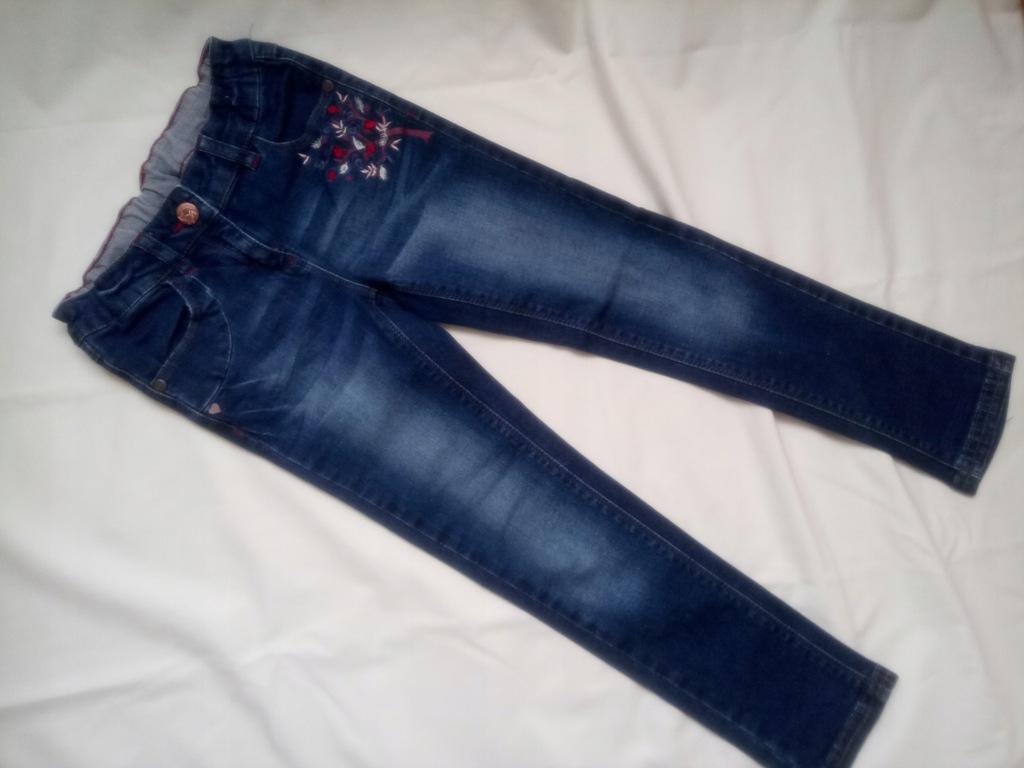 spodnie jeans skinny C&A Palomino 116 haft